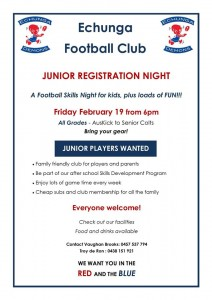 EFC Junior Registration Night