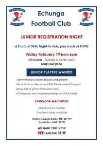 EFC Junior Registration Night
